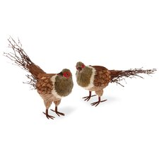 2 Piece Home Accent Pheasant Set