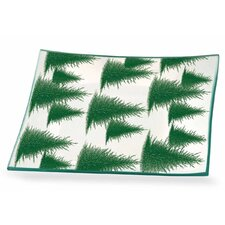 "Conifers 8.5"" Rectangle Glass Plate (Set of 2)"