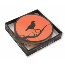 Raven Boxed Coaster (Set of 12)