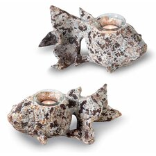 Rustic Fish Tealight (Set of 2)