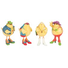 4 Piece Hippie Cheeky Chicks Figurine Set