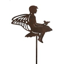 Fairy with Bird Garden Stake