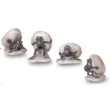 Frog Garden Accent Statues (Set of 4)