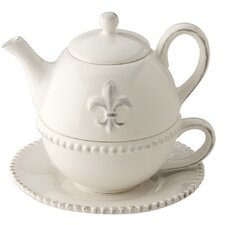 Fleur De Lis Teapot for One Set