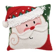 Santa 3D Hooked Acrylic / Cotton Pillow