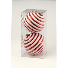 Striped Ball Boxed Ornament (Set of 2)