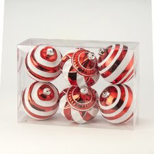 Stripe and Swirl Boxed Ornament (Set of 6)