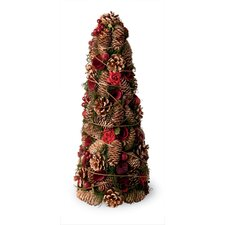 Rose and Pinecone Large Tree Holiday Accent