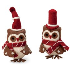 2 Piece Hoot and Scoot Owls Holiday Accents Set
