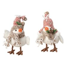 2 Piece Agentha and Anni Birds Holiday Accents Set