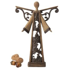 Large Wood-Cut Angel Holiday Accent