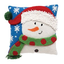 Snowman 3D Hooked Acrylic / Cotton Pillow