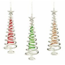 Tree Glass Ornament (Set of 3)