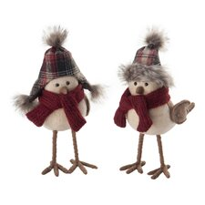 2 Piece Sven and Gwen Birds Holiday Accents Set