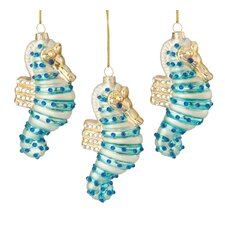 Seahorse Glass Ornament (Set of 3)