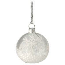 Snowball Glass Ornament and Place Card Holder (Set of 4)