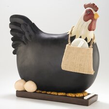 3-D Chicken Decorative Chalkboard Figurine