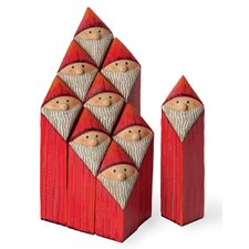 <strong>October Hill</strong> 9 Piece Santa Blocks Assortment Holiday Accent Set