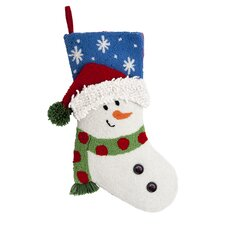 <strong>October Hill</strong> Snowman 3D Hooked Stocking