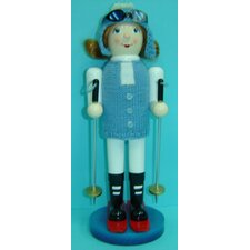 Girl Skier Nutcracker