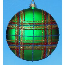 Plaid Disc Ornaments (Box of 4)