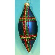 Plaid Drop Ornaments (Set of 4)