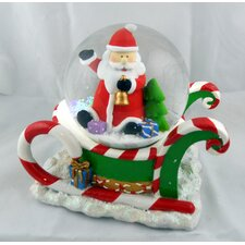 Santa on Sleigh Musical Waterglobe