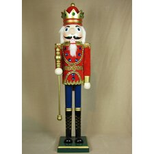 Velvet Jacket King Painted Wood Nutcracker