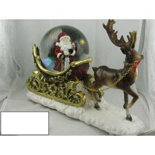 Classic Santa on Sleigh Musical Waterglobe