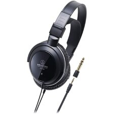Closed-Back Dynamic Monitor Headphones with CCAW Coil in Black