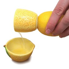 2 Piece Juicynista Ceramic Lemon Juicer Set