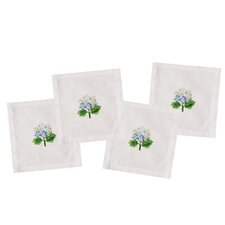 Hydrangea Cocktail Napkins (Set of 4)