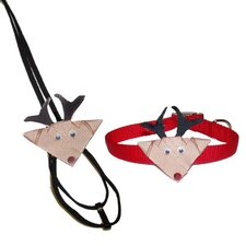 Santa and Reindeer Collar and Leash Enhancers