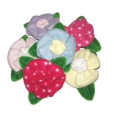 Three assorted Crinkle Petal Flower Dog Toys