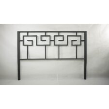 Greek Key Metal Headboard