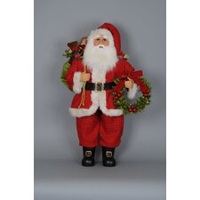 Christmas Wreath and Gifts Santa