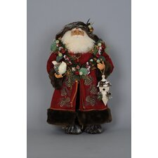 Crakewood Lighted Woodland Santa Claus Figurine