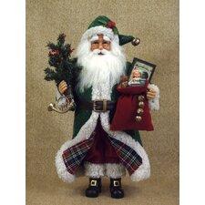 Crakewood Tartan Santa Claus Figurine