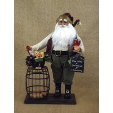 <strong>Karen Didion Originals</strong> Crakewood Cork Collector Santa Claus Figurine