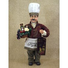 <strong>Karen Didion Originals</strong> Classic Home Tuscan Kitchen Chef Figurine