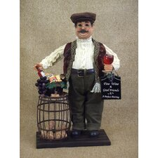 Classic Home Wine Barrel Cork Collector Figurine