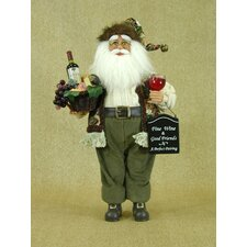<strong>Karen Didion Originals</strong> Crakewood Wine Collector Santa Claus Figurine