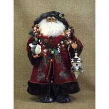 <strong>Karen Didion Originals</strong> Crakewood Lighted Woodland Santa Claus Figurine
