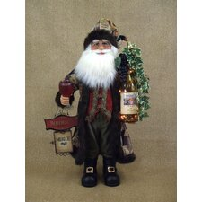 Crakewood Lighted Wine Santa Claus Figurine