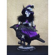 <strong>Karen Didion Originals</strong> Spooktacular Halloween Raven Witch Figurine