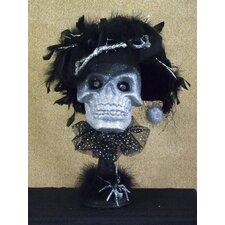 Spooktacular Halloween Skeleton Bust Figurine