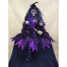 <strong>Karen Didion Originals</strong> Spooktacular Halloween Skeleton Witch Figurine