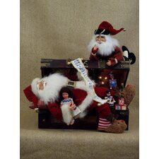 Crakewood Lighted Trunk Santa Claus Figurine