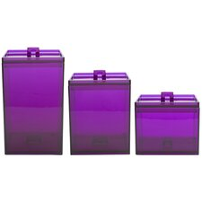 3 Piece Meeme Canister Set