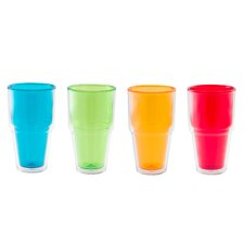 Pint 20 oz. Double-Walled Highball Insulated Tumbler (Set of 4)